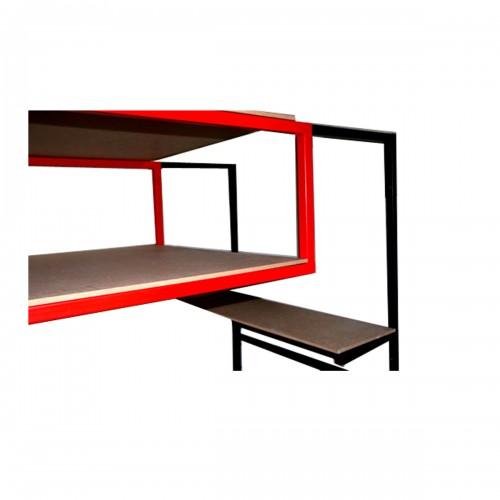 Cadre de lit SUSI 180 x 200cm métallique gris sommier intégré