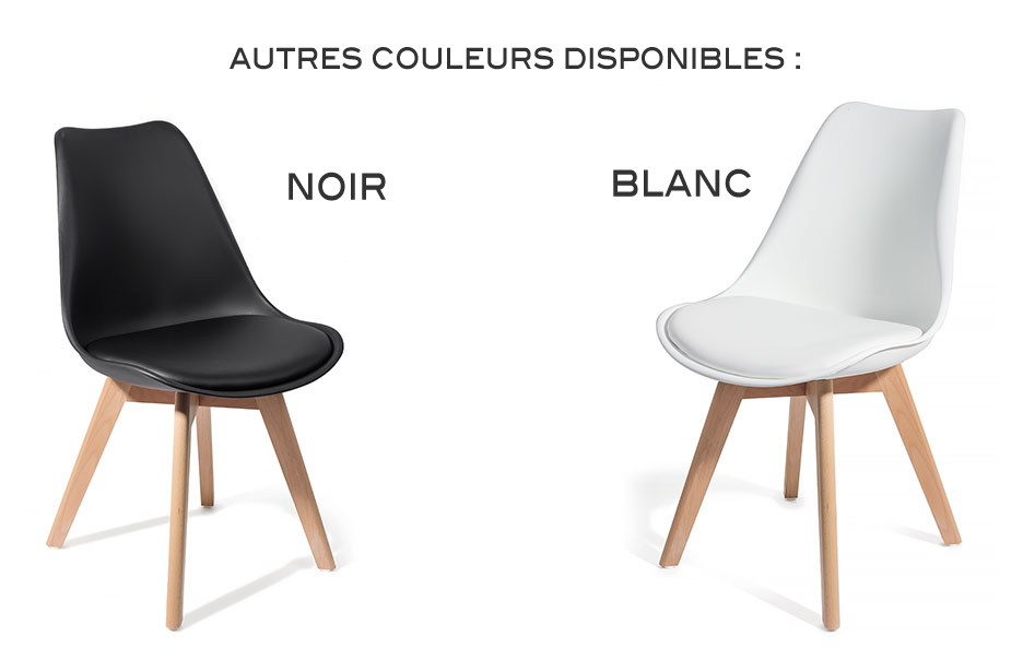 4 chaises brekka noir design contemporain nordique for Table de salle a manger annee 70