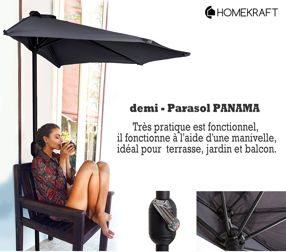 demi parasol de balcon pas cher. Black Bedroom Furniture Sets. Home Design Ideas