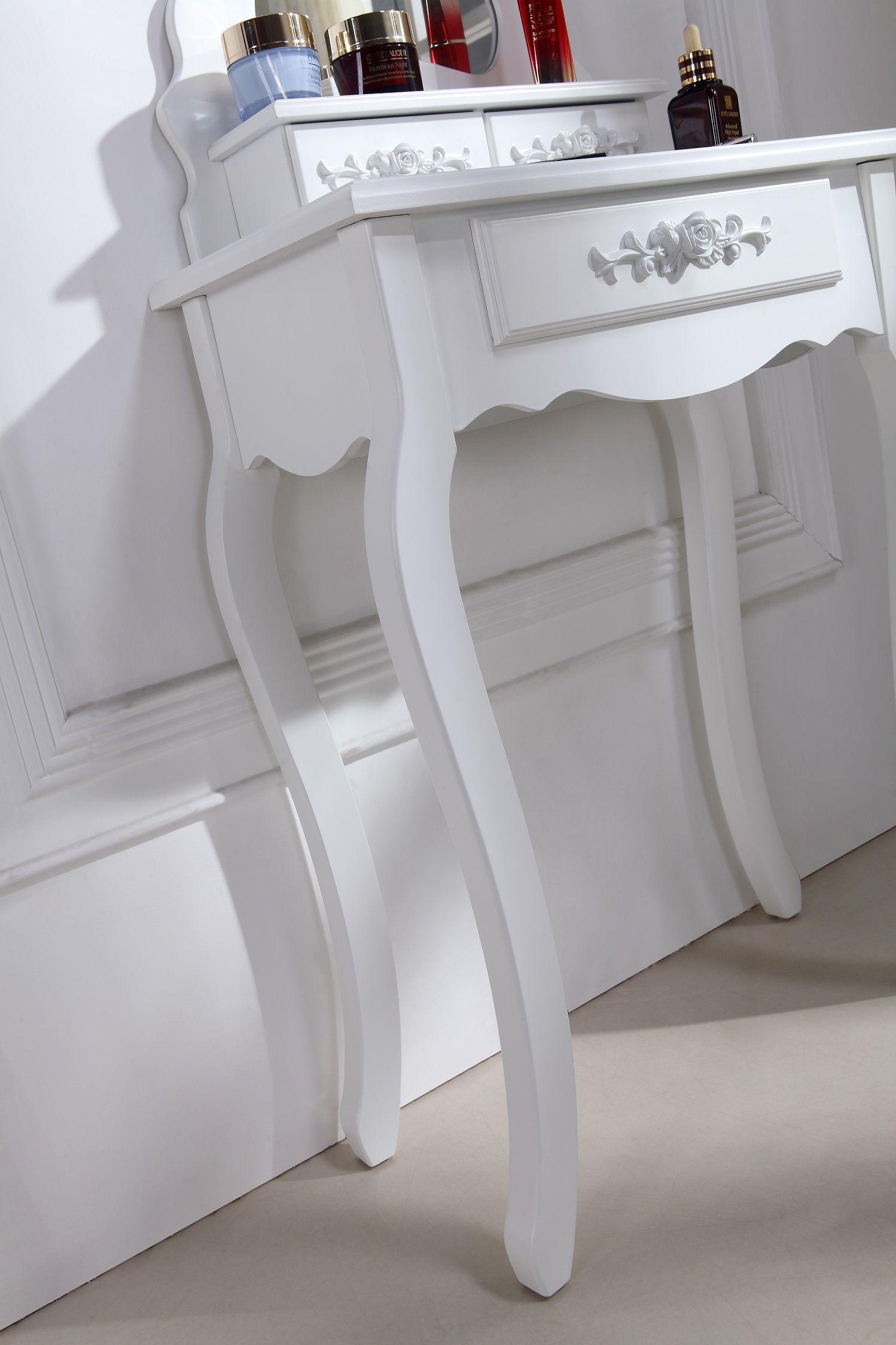 Coiffeuse table de maquillage avec miroir for Coiffeuse avec miroir et tabouret
