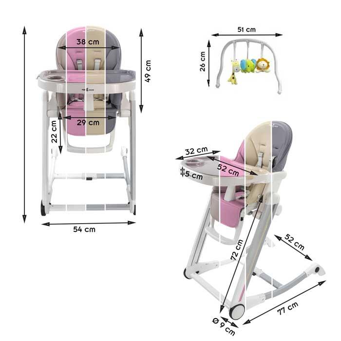 chaise haute bébé réglable