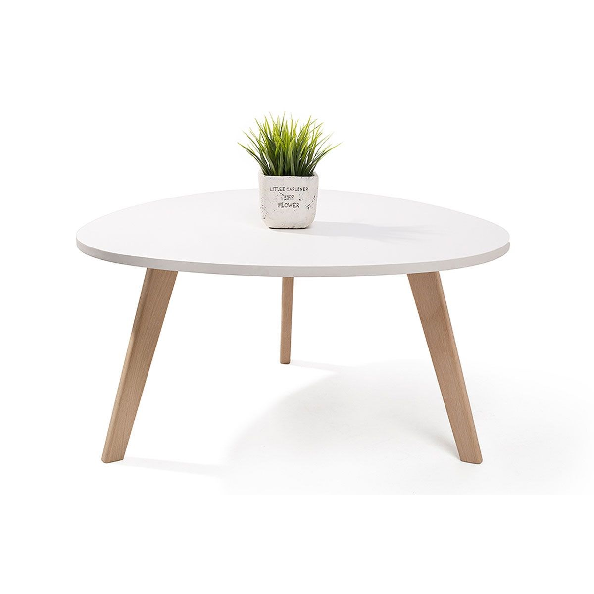 Alta table basse scandinave aspect galet pieds en bois for Pied de table scandinave