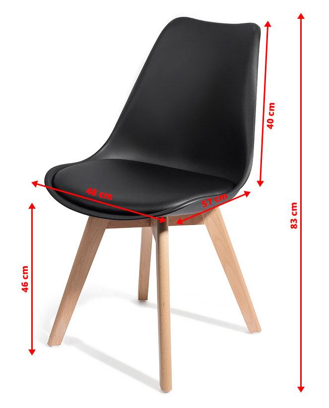 4 chaises brekka design contemporain nordique scandinave achat vente chaise blanc soldes. Black Bedroom Furniture Sets. Home Design Ideas