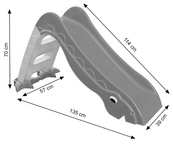 Dimension toboggan Dino