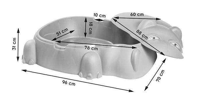 hippo dimensions