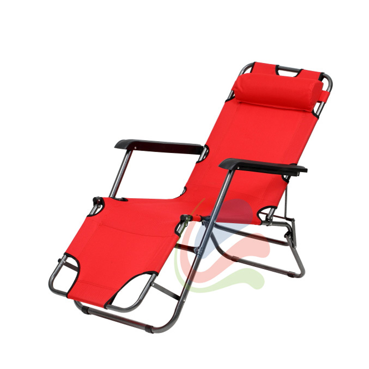 Transat chaise longue jardin plage 3 positions for Chaise longue legere pliante
