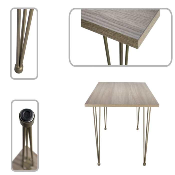 table pieds métal